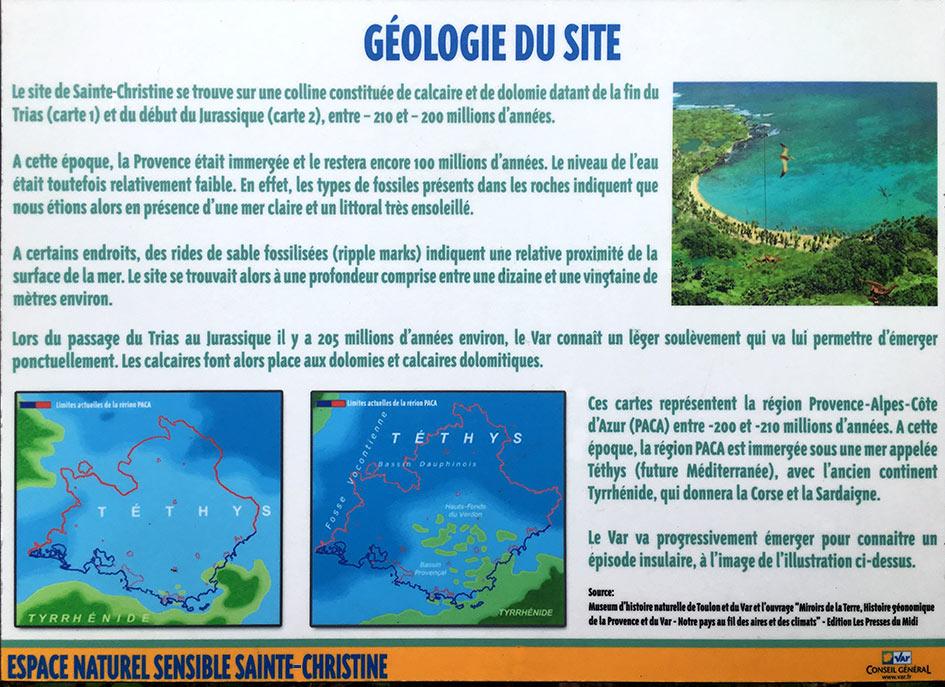 Géologie du site de Sainte-Christine