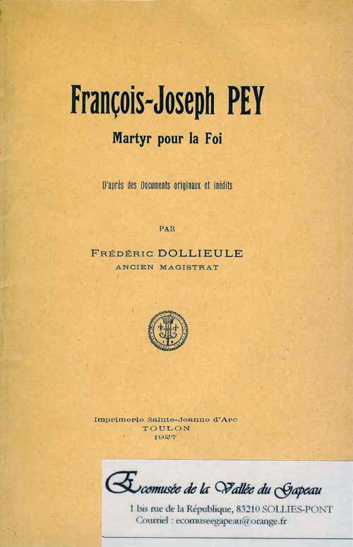 François-Joseph Pey, Dollieule Frédéric