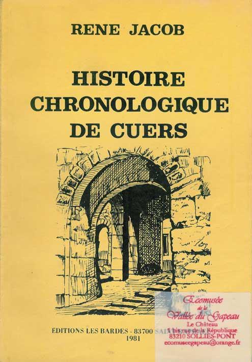 Histoire chronologique de Cuers, René Jacob