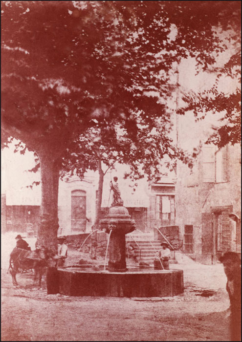 La fontaine. Solliès-Pont