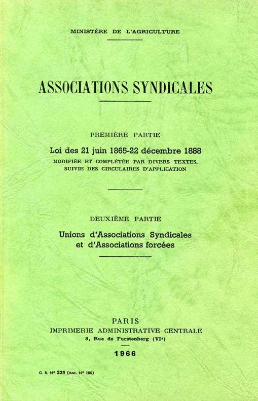 Associations Syndicales Ministère de l'Agriculture