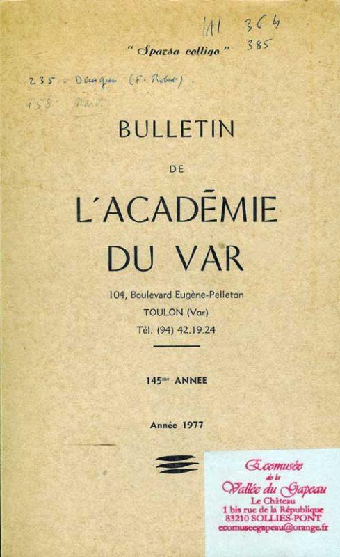 Bulletin de l'académie du Var 1977