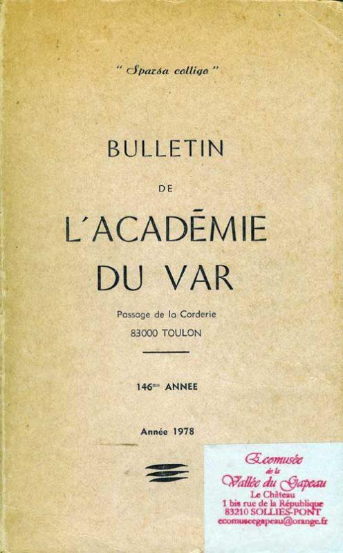 Bulletin de l'académie du Var 1978