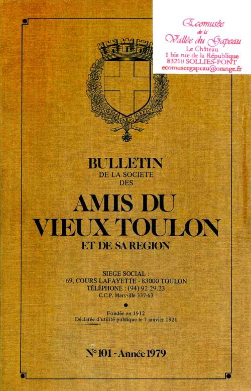 Bulletin de la société des amis du vieux Toulon et de sa région, n° 101
