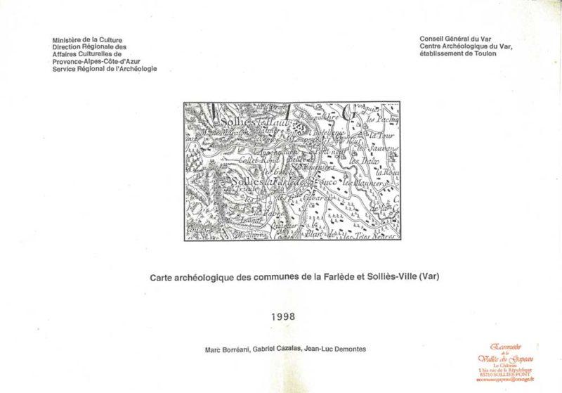 Carte archéologique des communes de la Farlède et Solliès-Ville (Var)
