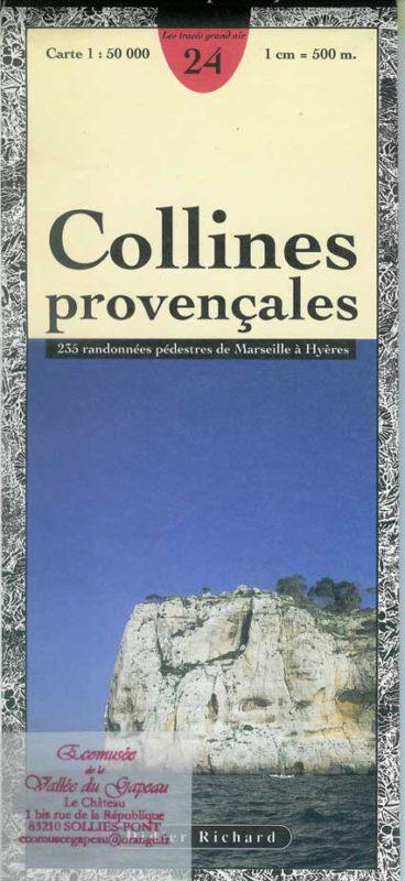 Carte N° 24, Collines provençales au 1 : 50 000 Didier Richard