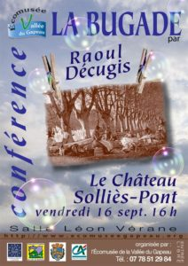 Conférence de M. Raoul Décugis : La Bugade. 2016