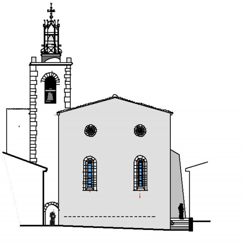 Facade sud église Saint-Michel