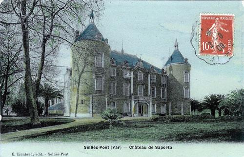 Chateau de Solliès-Pont, vue ancienne