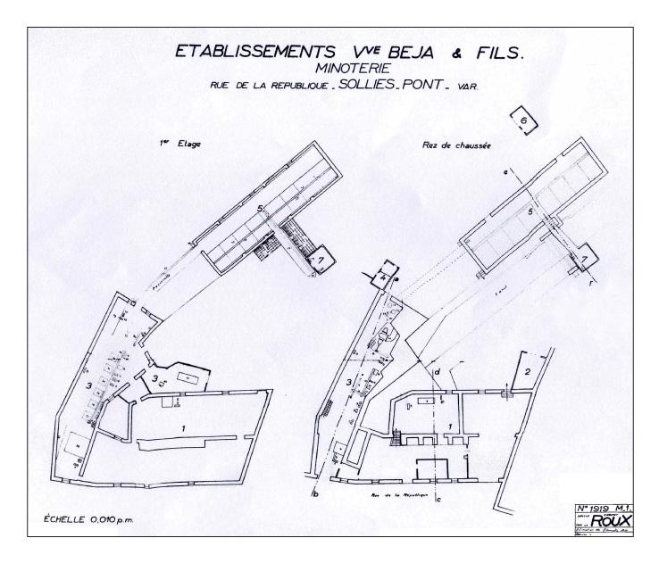 Plan minoterie Béja