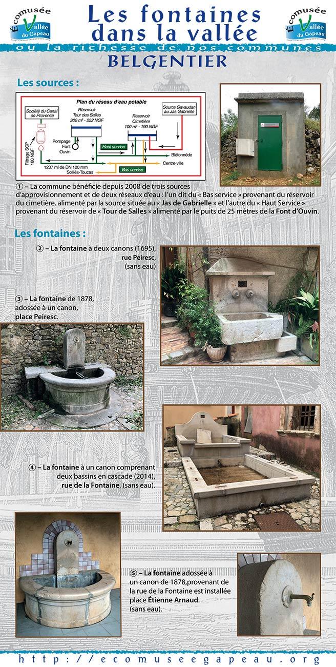 Les fontaines dans la Vallée Belgentier 1