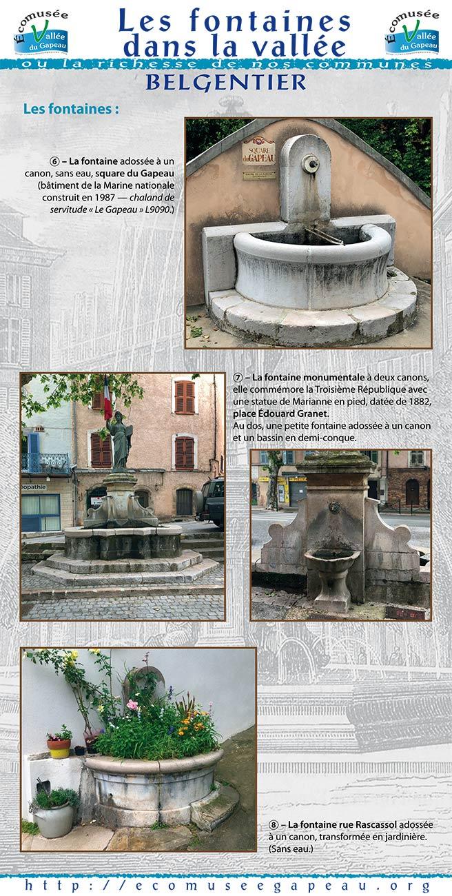 Les fontaines dans la Vallée Belgentier 2