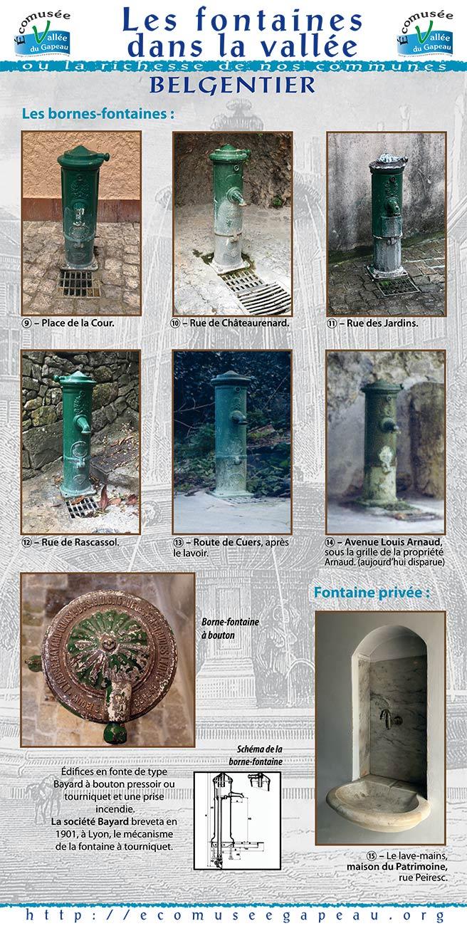 Les fontaines dans la Vallée Belgentier 3