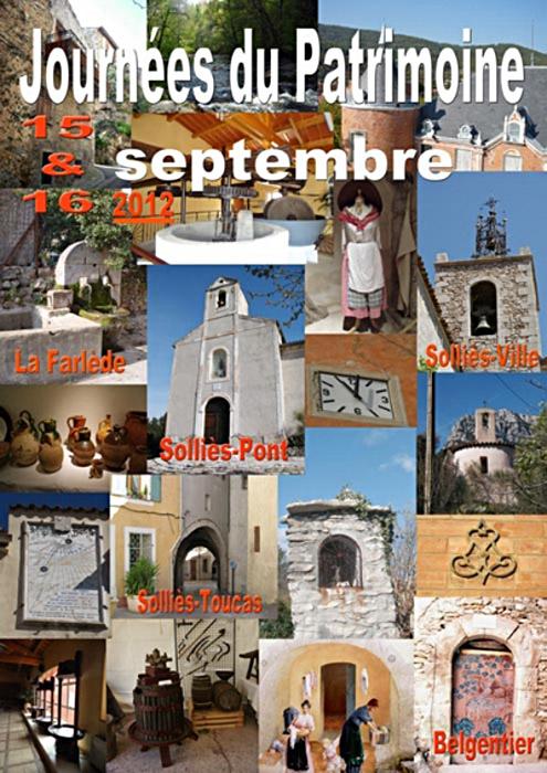 15, 16 septembre 2012, journées du Patrimoine