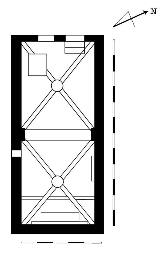 Chapelle Saint-Jacques des Sénès, plan.