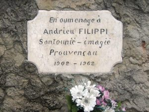 Oratoire Solliès-Ville, plaque Filippi