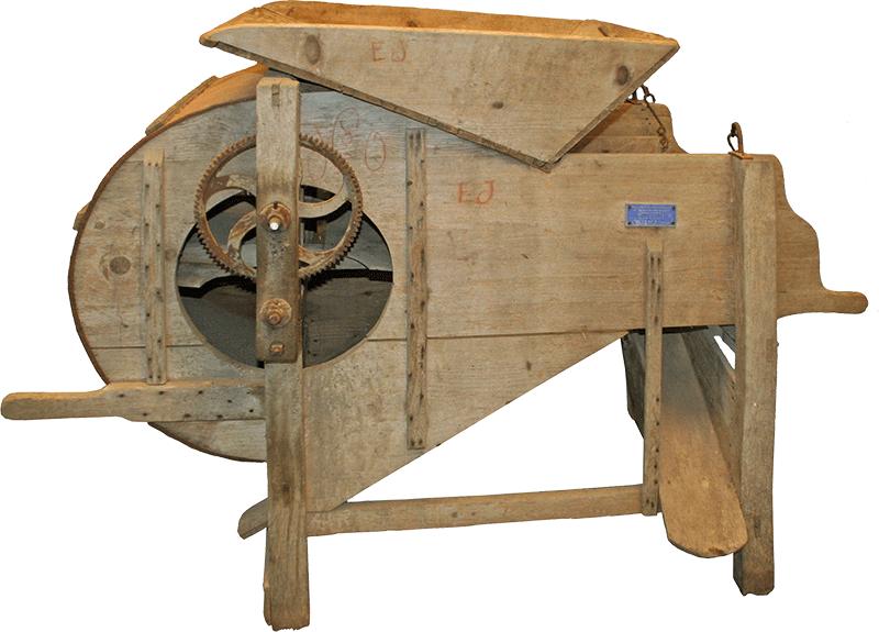 Tarare, van mécanique en bois.