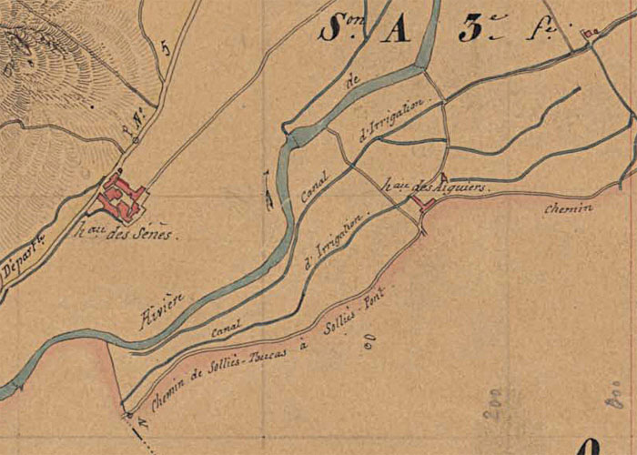 L'Enclos, extrait du cadastre de Solliès-Pont.