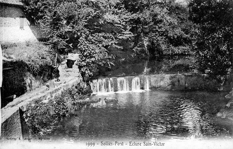 Barrage des Capellans, (carte postale de 1999). 800x514