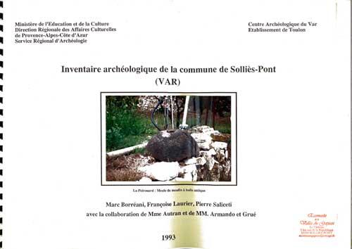 Inventaire archéologique de la commune de Solliès-Pont.