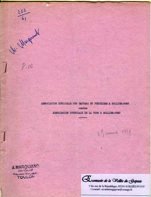 Association syndicale des Sauvans et Penchiers. 500 x 652.
