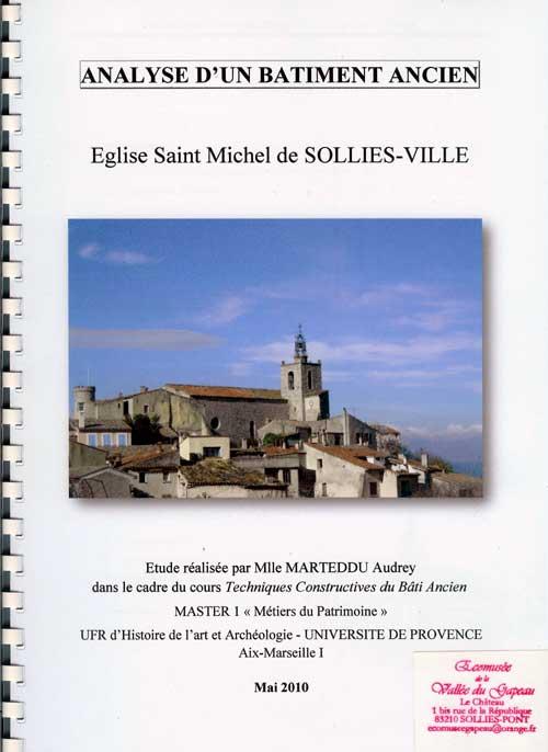 Analyse d'un bâtiment ancien : Église Saint-Michel de Solliès-Ville.