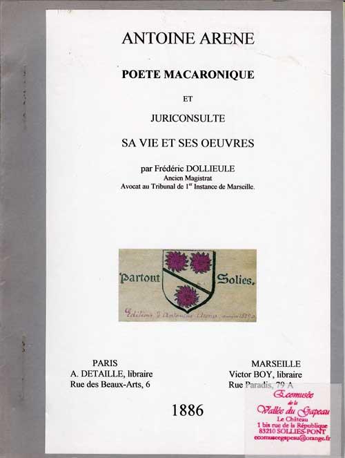 Antoine Arène, poète macaronique et juriconsulte, Dollieule Frédéric.