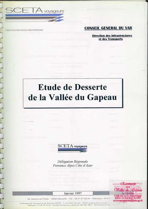 Étude de desserte de la Vallée du Gapeau.