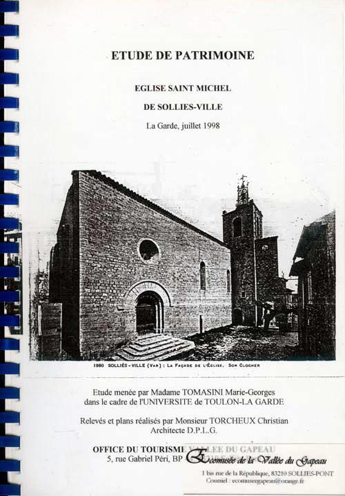 Étude de patrimoine, Église Saint-Michel de Solliès-Ville.
