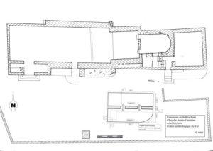 Plan de masse, de la citerne de Sainte-Christine.
