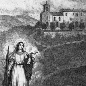 Lithographie de Massone, Sainte-Christine
