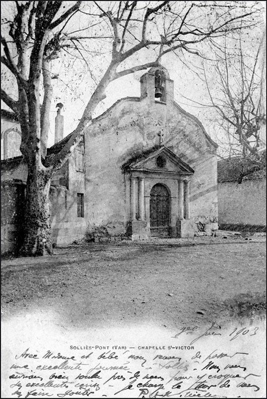 La chapelle Saint-Victor de Solliès-Pont.