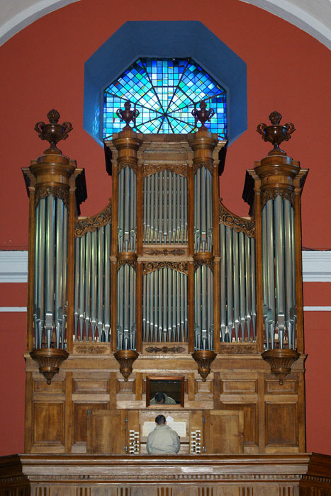 Grand orgue Callinet, buffet, Solliès-Pont.