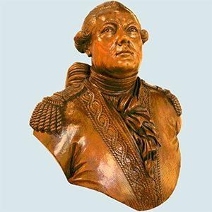 Antoine Groignard, buste en bois.