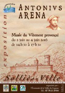 Antonius Aréna, exposition, Solliès-Ville