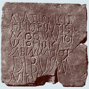 Plaque romaine gravée.