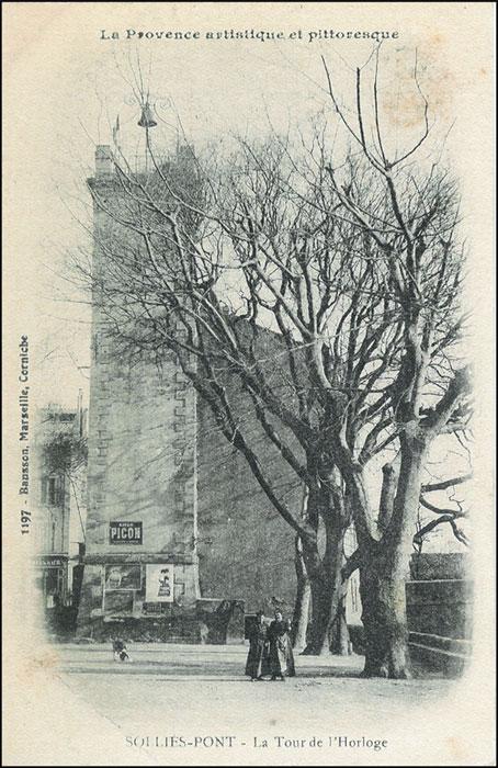 La tour de l'horloge. Solliès-Pont