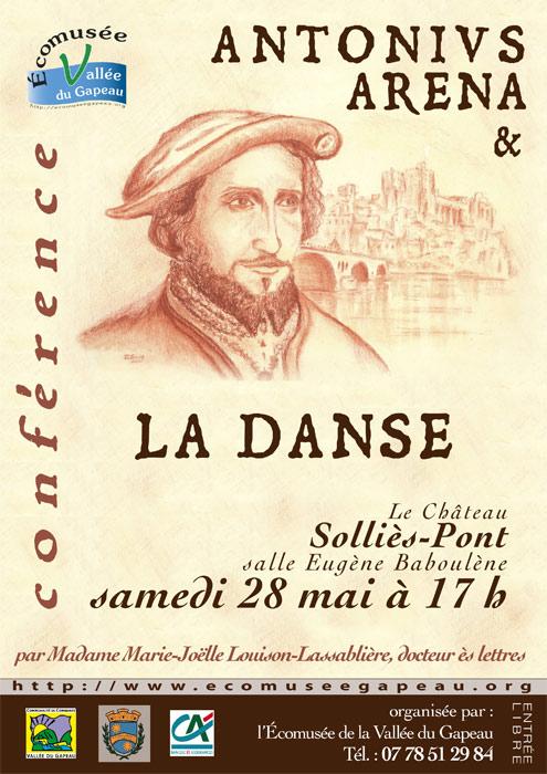 Antonius Arena Danse, conférence, Louison-Lassablière. 495x700.