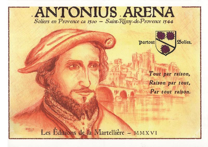 Couverture recto, Antonius Arena, Éditions de la Martellière