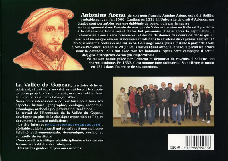 Couverture Antonuis Arena, verso. Éditions de la Martellière