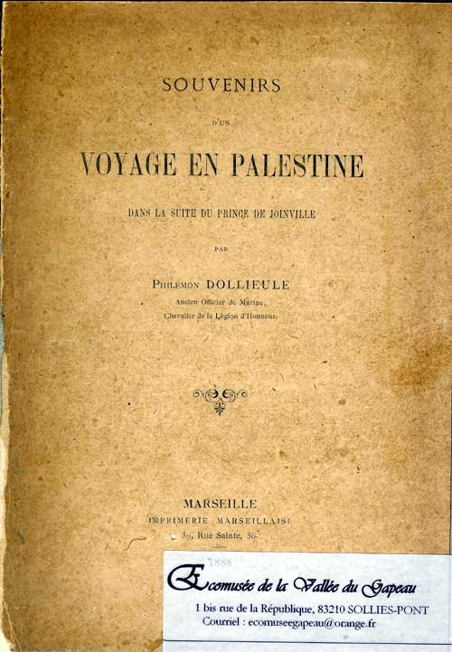 Souvenirs d'un voyage en Palestine