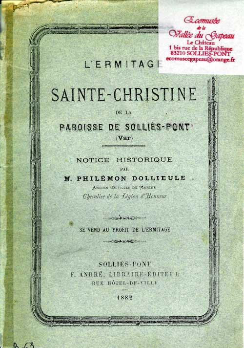 L'ermitage Sainte-Christine de la paroisse de Solliès-Pont