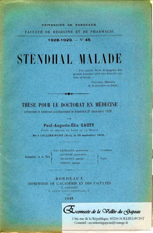 Stendhal malade