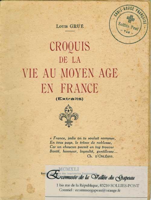 Croquis de la vie au Moyen Âge en France