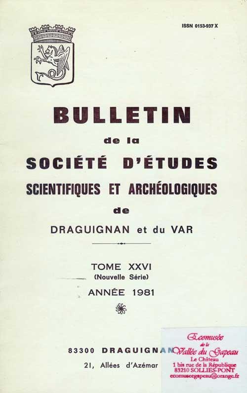 Bulletin de la Société d'Études scientifiques et archéologiques de Draguignan et du Var