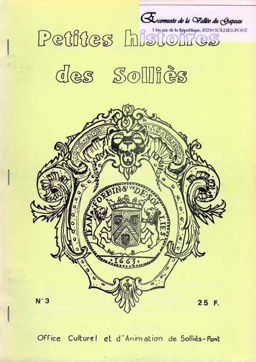 Petites histoires des Solliès n° 3