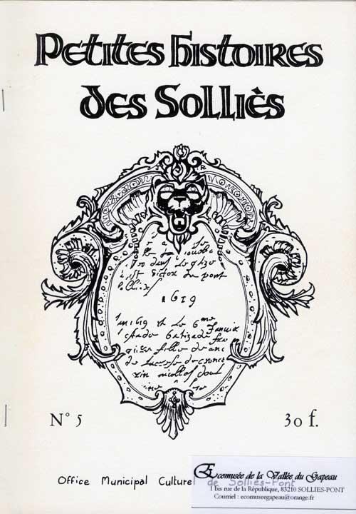 Petites histoires des Solliès n° 5