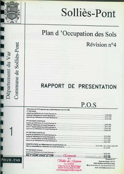 Solliès-Pont, Plan d'Occupation des Sols