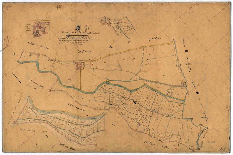 Canal de l'enclos en 1849