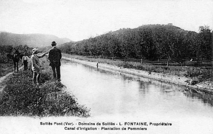 canal de l'Enclos en 1920, avant bétonnage.